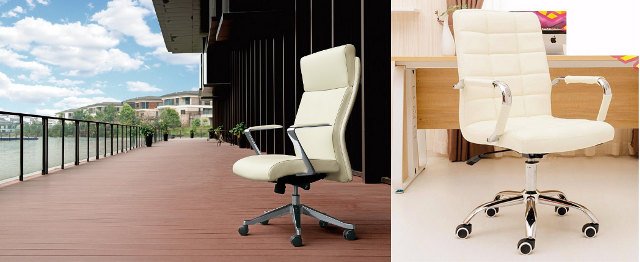 Pearl White Office Chair Outdoor