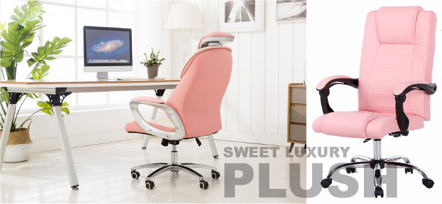 Pink Office Chair High Back