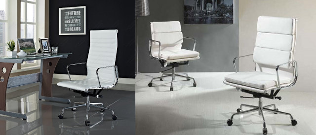 White Office Chair with Grey Wall